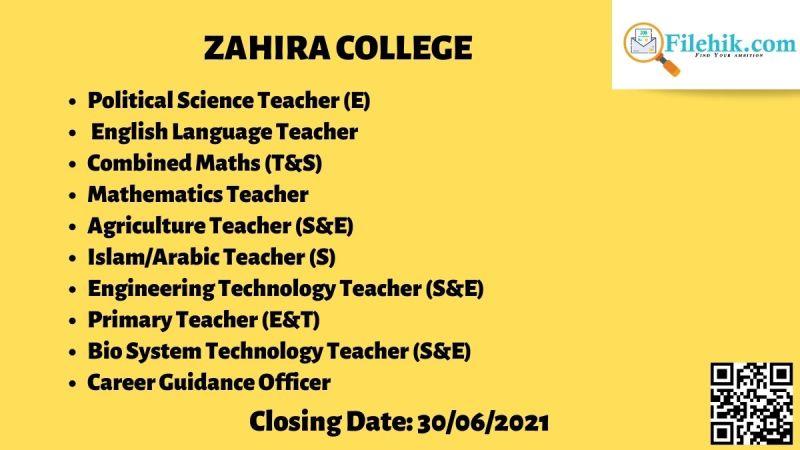 Zahira College Teaching