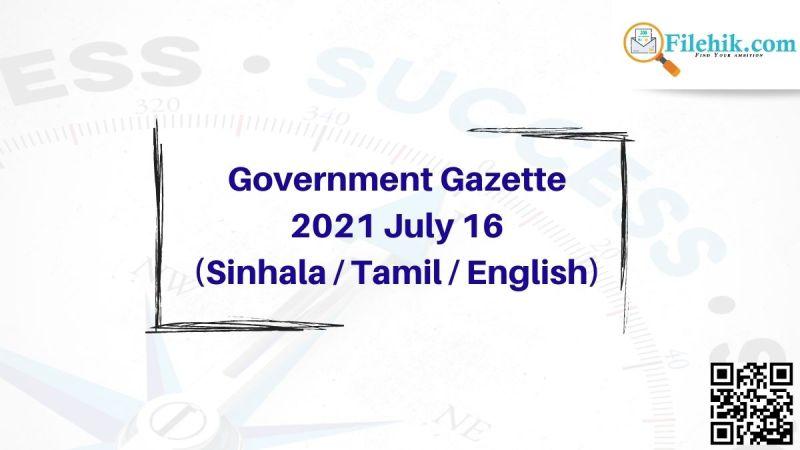 Gazette 2021 July 16