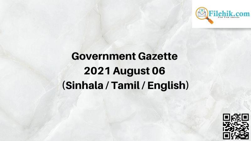 Gazette 2021 August 06