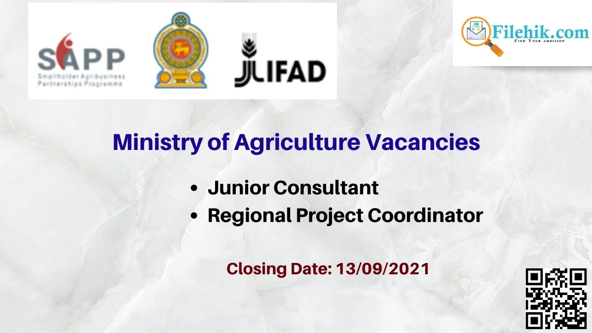 Ministry Of Agriculture Career Opportunities 2021