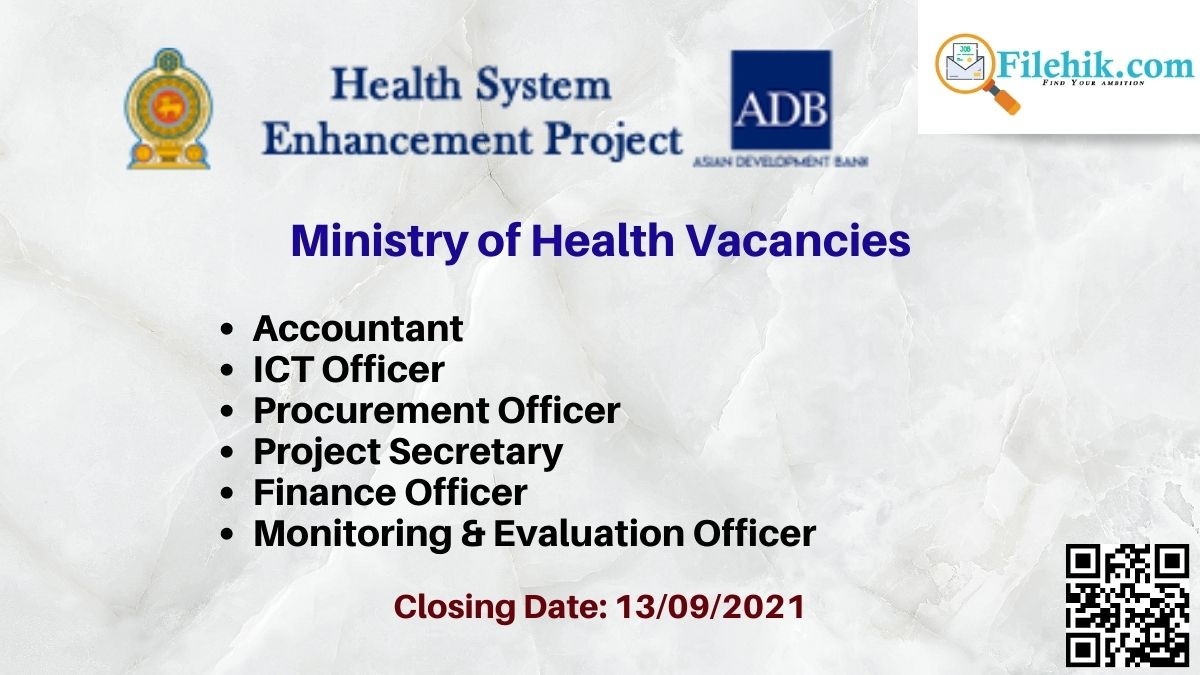 Ministry Of Health Career Opportunities 2021