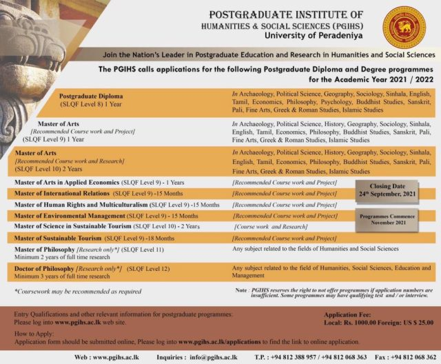 Postgraduate Programes