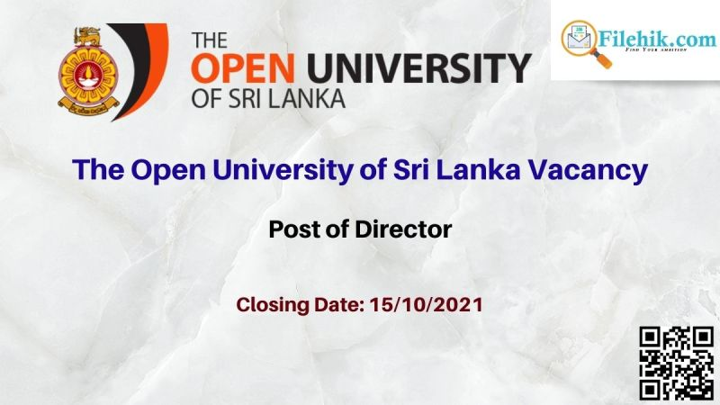 The Open University of Sri Lanka Vacancy