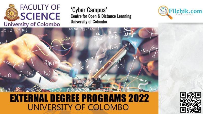 External Degree Programs University of Colombo 2022