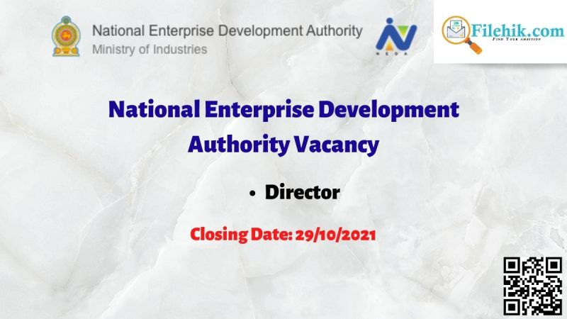 National Enterprise Development Authority Vacancy