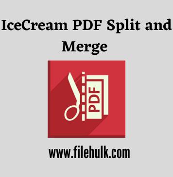 IceCream PDF Split and Merge