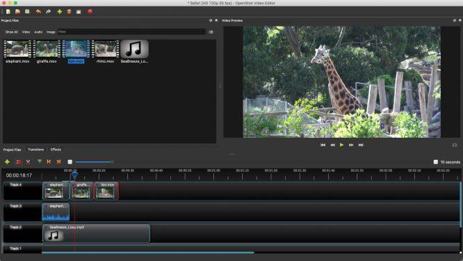 OpenShot Video Editor Best Free Software