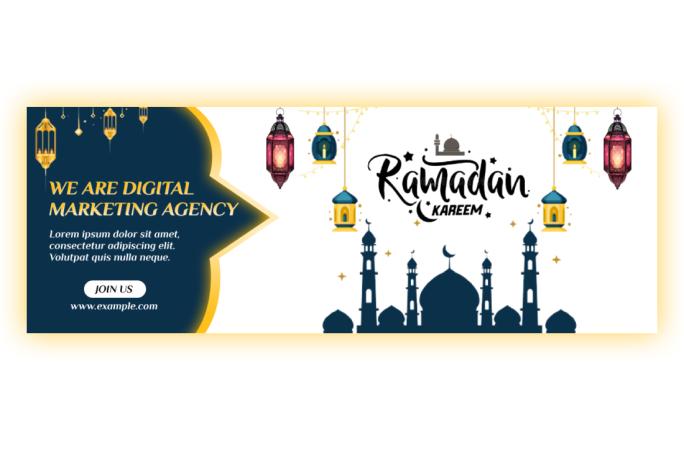 Ramadan Kareem Facebook cover for your Agency