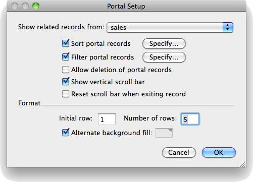Portal Setup dialog