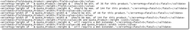 Validation via XML a