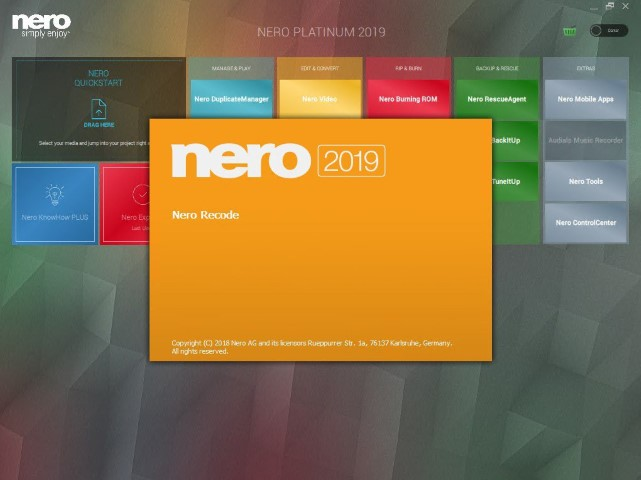 Nero Platinum 2019 Suite Full Crack