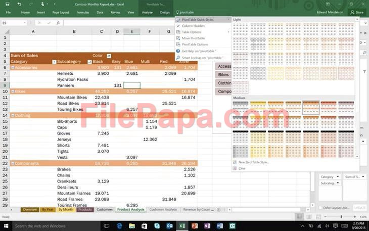 ms office pro plus 2016 features