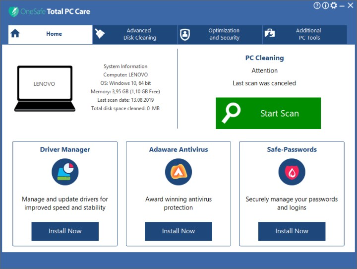 OneSafe Total PC Care