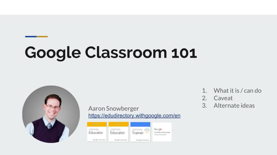 Google Classroom & G Suite for Education Training