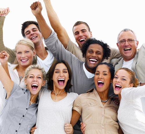 People cheering for Tyent Alkaline Water
