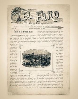 El Faro, primeiro periódico publicado pela Igreja na América do Sul (1897)