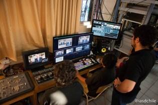 Muchas horas de trabajo y producción de Nuevo Tiempo para que la transmisión saliera en perfectas condiciones. ©Alfredo Müller