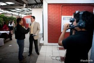 El Canal Nuevo Tiempo realizando una cobertura especial del programa cada día. ©Alfredo Müller