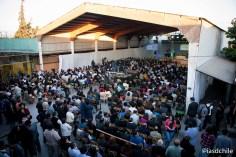 Cientos de asistentes en el Colegio Adventista La Cisterna. ©Alfredo Müller