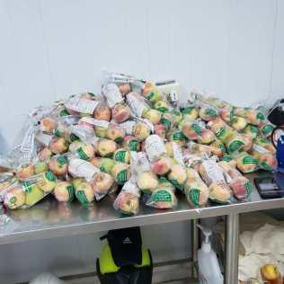Frutas listas para entregar