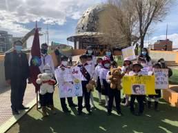 Marcha en la ciudad de Oruro