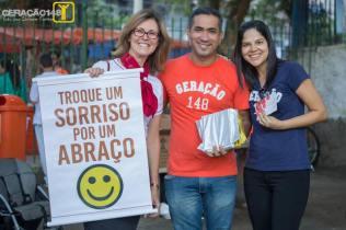 Sara Lima, Nilson Caetano e sua esposa Juliane