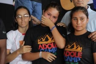 Adolescentes se emocionaram após mensagem especial do Pr. Renato Seixas