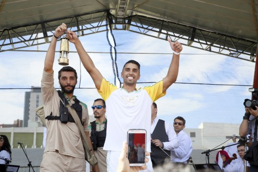 Desbravadores ajudaram na organização do revezamento da Tocha Olímpica