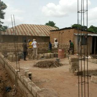 Início das obras da nova Escola Adventista Betel, no bairro Aeroporto.