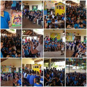 Durante a semana, as escolas receberam diversas ações da campanha.