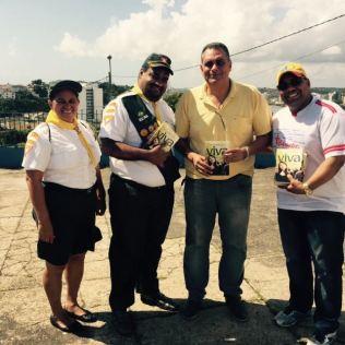 """Vereador Jamil Ocké recebeu livro """"Esperança Viva""""durante realização do Projeto Bálsamo em Ilhéus"""