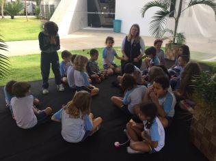 Alunos da pré-escola também participaram dos momentos de oração