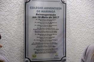 Placa da reinauguração
