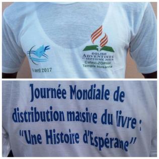 Campanha de distribuição do livro em Benin, país da costa africana.