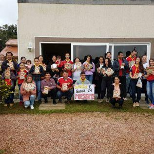 Fiéis de Monte Castelo (SC) motivados no Impacto Esperança 2017.