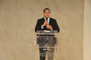 Líder da Educação Adventista no sul da bahia, pastor Murilo Andrade, na inauguração do auditório Novo Tempo