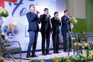 Quarteto Encontros fez o louvor especial.