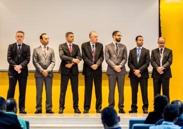 Parte da liderança reeleita e eleita até 2021. Da esquerda para a direita: Anilson Seemund, Fernando Rios, José Hadson, Antônio Mário, Ebenezer Oliveira, Fabiano Oliveira e Jairo José Meneses
