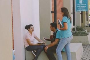 Educadores promoveram diversas ações pela cidade.