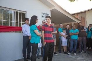 A principal ação da tarde foi a inauguração de uma casa completamente reformada em um projeto do Colégio Adventista de Foz do Iguaçu.