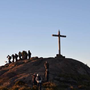 Uma das atividades do Pastori foi subir o Pico da Bandeira, o ponto mais alto do estado de Minas Gerais. (Foto: Arquivo Pessoal/Gustavo Marques)