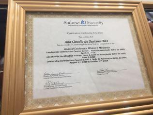 Certificado emitido pela Universidade Andrews (Foto: Divulgação)