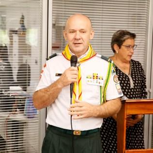 Líder regional fala na cerimônia