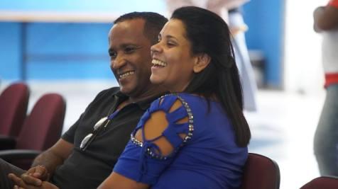 Líderes de casal participaram do lançamento Oficina da Família (Fotos: Joelton Oliveira)