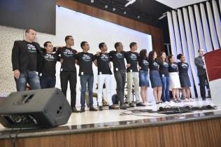 Voluntários do projeto Um Ano em Missão foram apresentados aos participantes do Calebe Training (Foto: Elvis Natali)