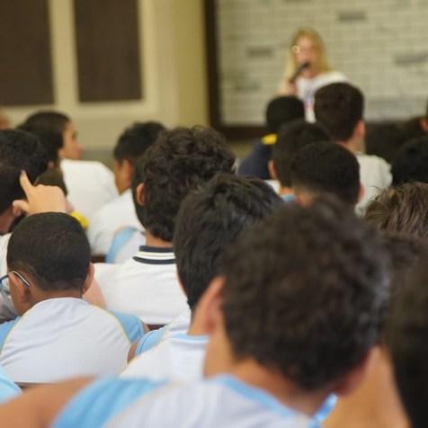Cerca de 300 alunos participaram da programação (Foto: Larissa Rodrigues)