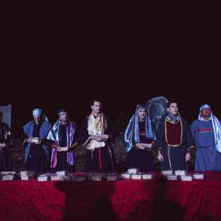 Cerimônia da Santa Ceia foi realizada com roupas típicas