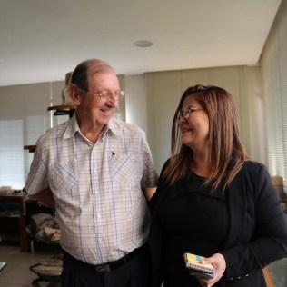 Rubens Crivellaro e Patrícia Setúbal, auxiliar administrativa da SCB. (Foto: Mauren Fernandes)