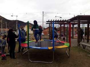 Pula-pula para as crianças.