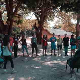 Brincadeiras lúdicas eram feitas todos os dias com as crianças e adolescentes da tribo